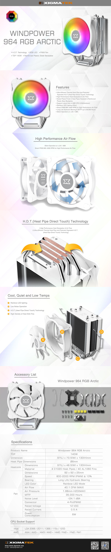 Xigmatek Windpower 964 RGB Arctic Cooler - EN47604 8
