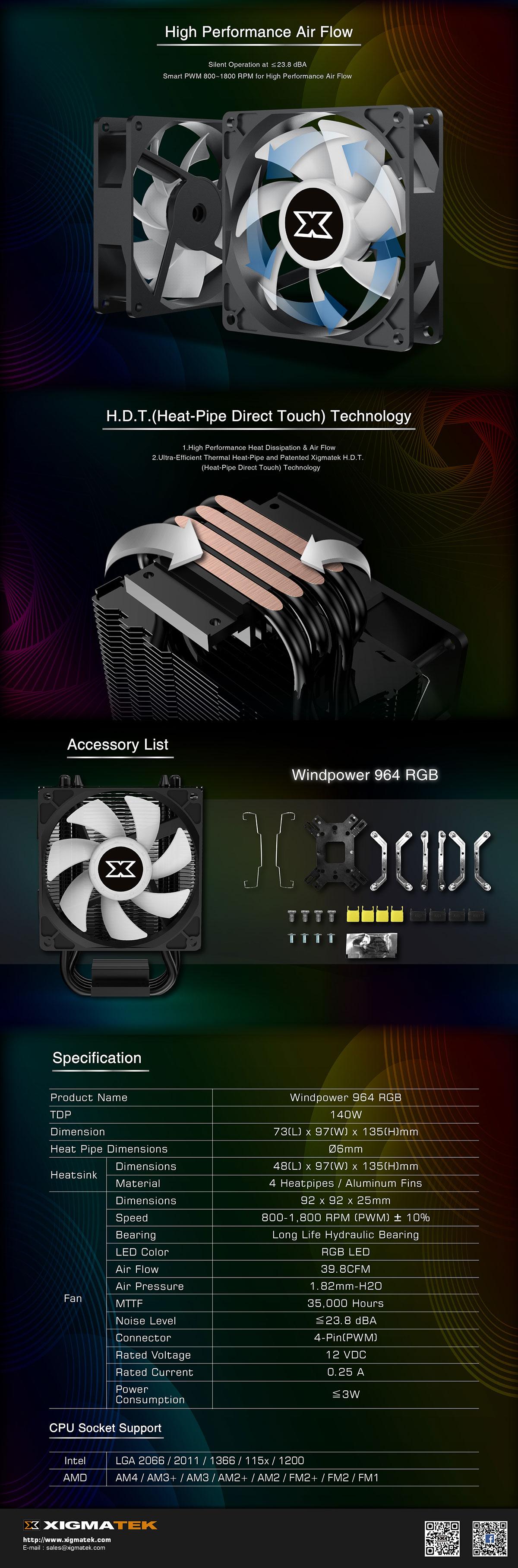 Xigmatek Windpower 964 RGB Cooler - EN45778 18