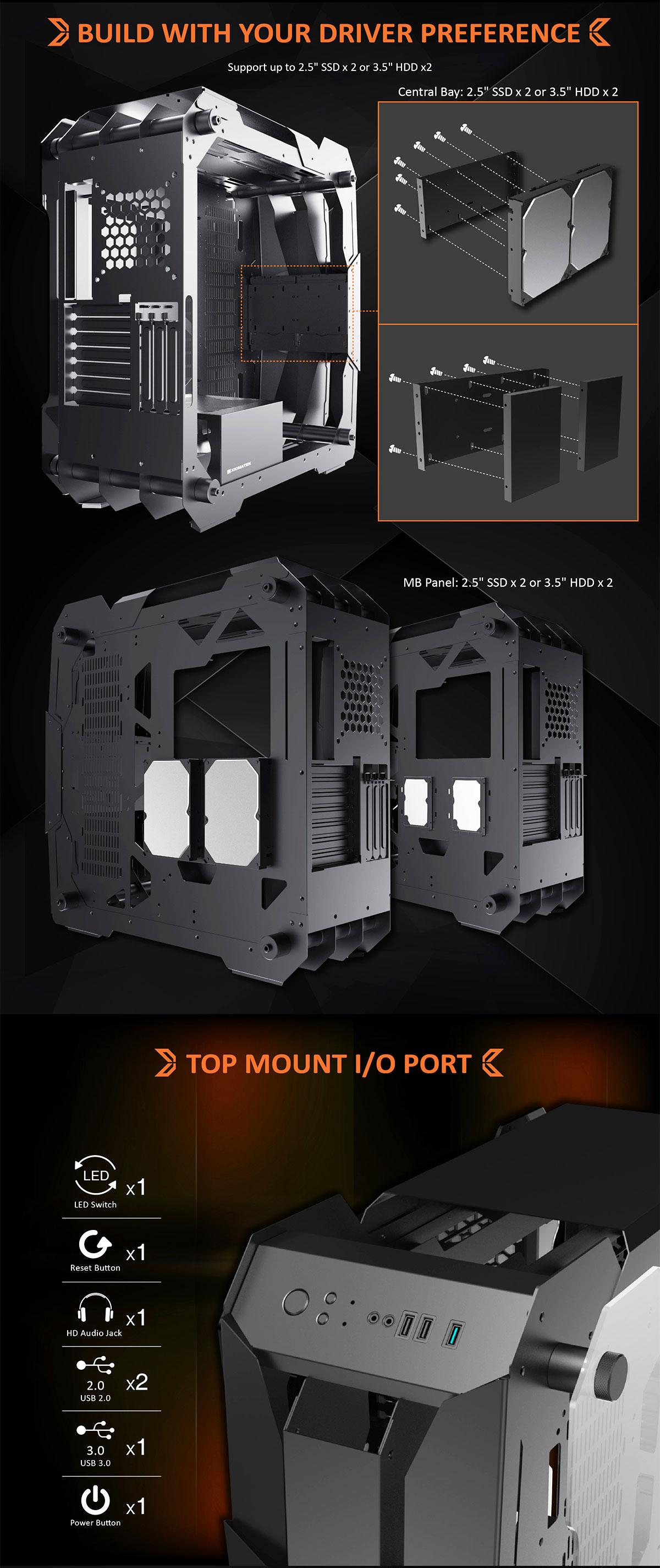 Xigmatek X7 Super Tower E-ATX Gaming Case - EN46218 16